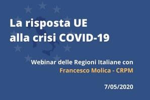 La risposta dell'UE alla crisi Covid-19: webinar delle Regioni Italiane a Bruxelles con la CRPM