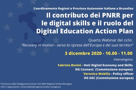 "Recovery in motion: ""PNRR per le digital skills e ruolo del Digital Education Action Plan"""