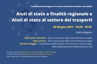 Aiuti di Stato a finalità regionale e Aiuti di stato al settore dei trasporti
