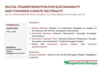 Digital Transformation Talks: il digitale per la sostenibilità e la neutralità climatica