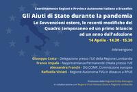 Gli Aiuti di Stato durante la pandemia: nuovo webinar delle Regioni Italiane a Bruxelles