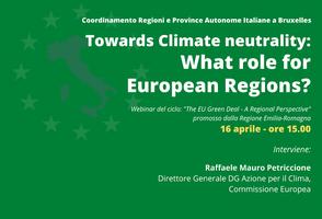 Green Deal Europeo: neutralità climatica e ruolo delle Regioni europee