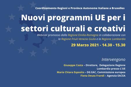 I nuovi programmi UE per i settori culturali e creativi