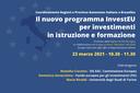 Il nuovo programma InvestEU per investimenti in istruzione e formazione
