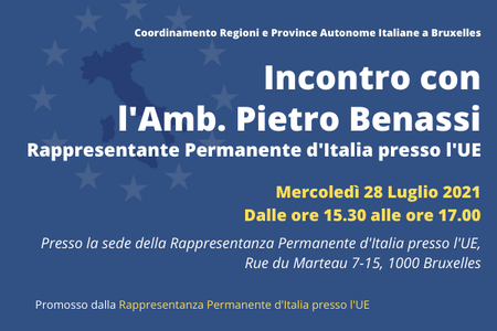 Incontro con l'Ambasciatore Pietro Benassi