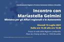 Incontro con la Ministra Mariastella Gelmini