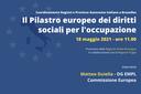 Pilastro europeo dei diritti sociali: riunione delle Regioni Italiane a Bruxelles