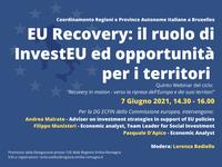 """Recovery in motion: """"EU Recovery, il ruolo di InvestEU ed opportunità per i territori"""""""