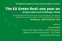 Un anno dal lancio del Green Deal: azioni intraprese e sfide future