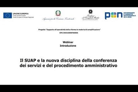 Il SUAP e la nuova disciplina della conferenza dei servizi e del procedimento amministrativo