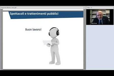 Spettacoli e trattenimenti pubblici (2° webinar)