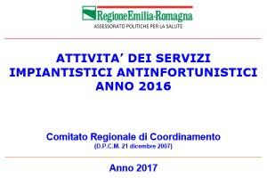 Unità operative impiantistiche antinfortunistiche: pubblicati i dati di attività relativi al 2016