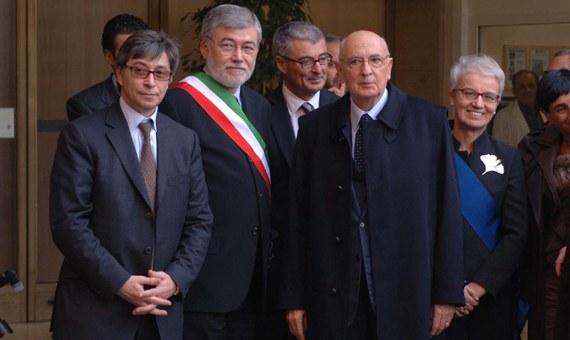 La visita di Giorgio Napolitano