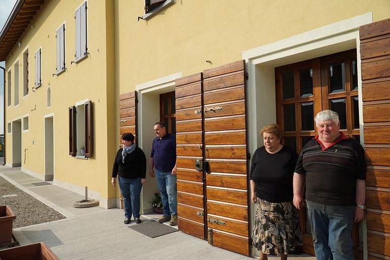 San Felice sul Panaro. Abitazioni rurali ricostruite