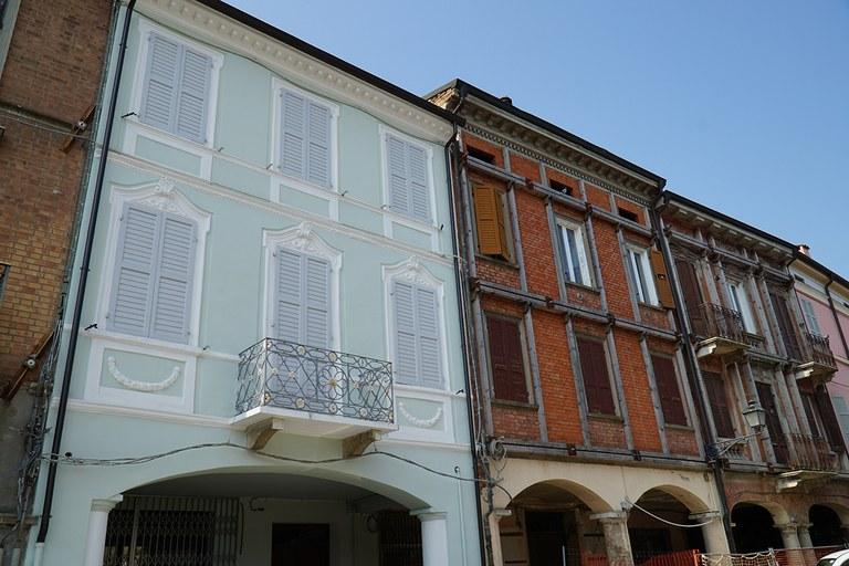 Concordia. Abitazioni ricostruite nel centro storico