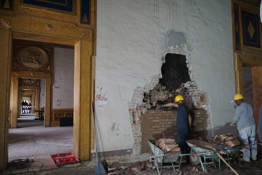 Ferrara. Restauri a palazzo Massari