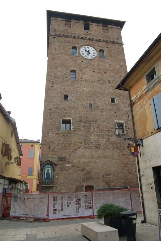 Nonantola. Torre dei modenesi restaurata