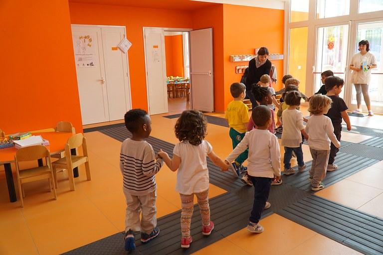 Camposanto. Scuola d'infanzia comunale ricostruita