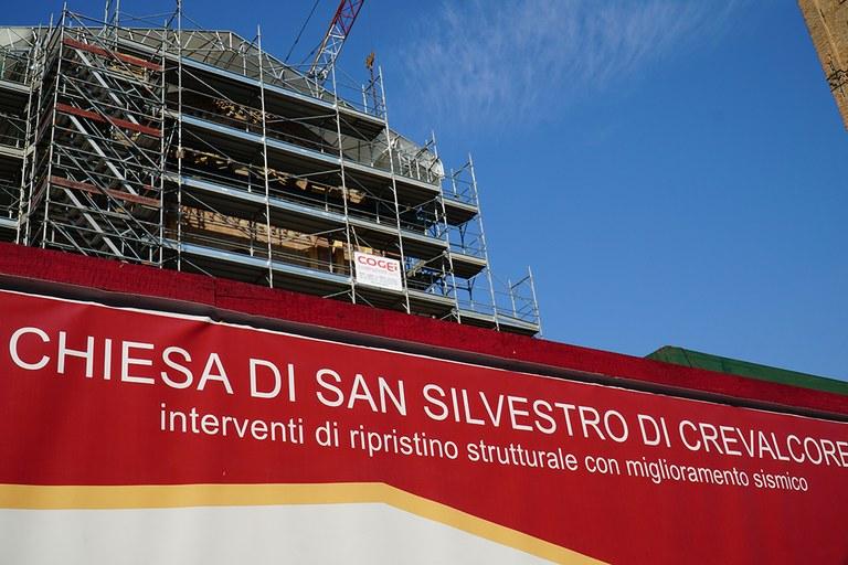 Crevalcore. Chiesa di San Silvestro in ricostruzione
